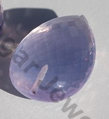 Lavender Quartz Half Drilled Gemstones