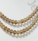 wholesale Champagne Citrine  Faceted Rondelle