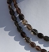 16 inch strand Cats Eye Scapolite Faceted Oval