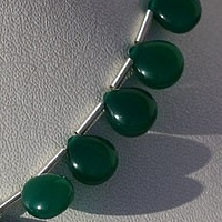 aaa Green Onyx Gemstone Heart Plain