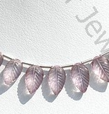 wholesale Pink Amethyst Carved Leaf