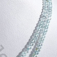 aaa Aquamarine Gemstone  Faceted Rondelles