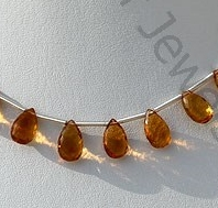 wholesale Citrine Gemstone  Flat Pear Briolette