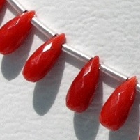 wholesale Coral  Tear Drops Briolettes