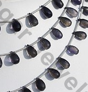 aaa Iolite Gemstone Beads Tear Drops Briolette