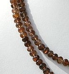 16 inch strand Andalusite Gemstone  Faceted Rondelle