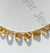 wholesale Citrine Gemstone Twisted Heart Briolette