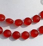 wholesale Carnelian Gemstone Faceted Coin