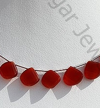 wholesale Carnelian Gemstone Twisted heart Briolette