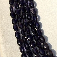 16 inch strand Iolite Gemstone Beads  Oval Faceted