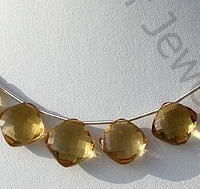 wholesale Cognac Quartz Gemstone Cushion Beads