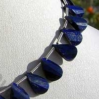 wholesale Lapis Gemstone Twisted Flat Pear