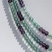 16 inch strand Fluorite Gemstone Beads  Faceted Rondelle
