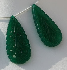 aaa Green onyx carved beads