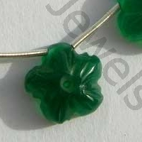 Green Onyx  Gemstone Flower Beads