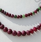 wholesale Ruby Zoisite  Faceted Rondelles