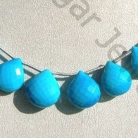 wholesale Turquoise Gemstone Heart Briolette