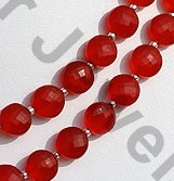 aaa Carnelian Gemstone Faceted Coin