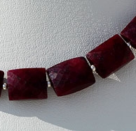 wholesale Dyed Ruby Faceted Rectangles