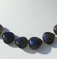 wholesale Labradorite Blue Power Heart Plain Beads