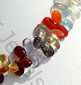 aaa Semi Precious Gemstone Flat Pear Plain
