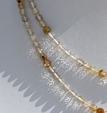 16 inch strand Golden Rutilated Quartz Faceted Round