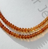 wholesale Citrine Gemstone Plain Beads