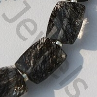 wholesale Black Rutilated Quartz  Faceted Rectangles