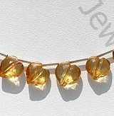 wholesale Citrine Gemstone Faceted Chubby Heart Briolette