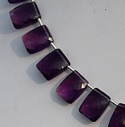 8 inch strand Amethyst Gemstone Fancy Cut