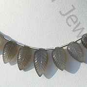 wholesale Grey Moonstone Carved Leaf