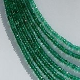 16 inch strand Emerald Gemstone Beads  Faceted Rondelle
