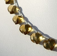 8 inch strand Honey Quartz Faceted Chubby Heart
