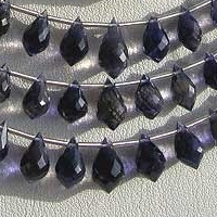 wholesale Iolite Gemstone Beads  Chandelier Briolette