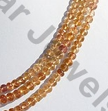 aaa Imperial Topaz  Faceted Rondelles