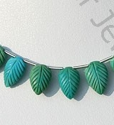 wholesale Sleeping Beauty Turquoise Carved leaf