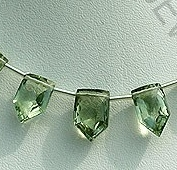 wholesale Green Amethyst Gemstone Pentagon Beads