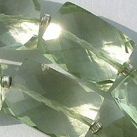 aaa Green Amethyst Gemstone Faceted Rectangles