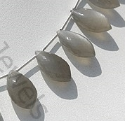 aaa Grey Moonstone Dolphin Shape Beads