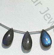 wholesale Labradorite Blue Power Flat Pear Briolette