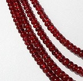16 inch strand Red Spinel Plain Rondelle