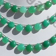 wholesale Chrysoprase Gemstone  Heart Briolette