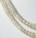 16 inch strand Scapolite Gemstone Faceted Rondelles