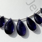 Iolite Flat Pear Briolette