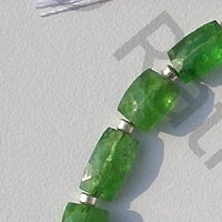 8 inch strand Tsavorite Gemstone Faceted Rectangle Beads