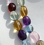 16 inch strand Semi Precious Multi  Faceted Nuggets