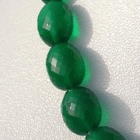 16 inch strand Green Onyx  Oval Faceted