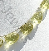aaa Lemon Quartz Carved Beads