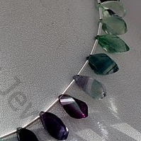 wholesale Fluorite Gemstone Beads  Twisted Tear Drops