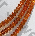 aaa Citrine Gemstone  Faceted Rondelles